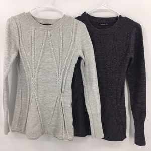Lot of 2 PattyBoutik M Crew Neck Sweaters